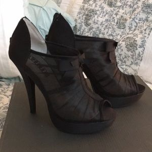 Black Vera Wang Heels, Only Worn Once!